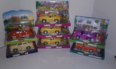 Chevron Cars 1999-Disney-Cassy-Leslie-Holly-Danni & People Extras Toy Cars New