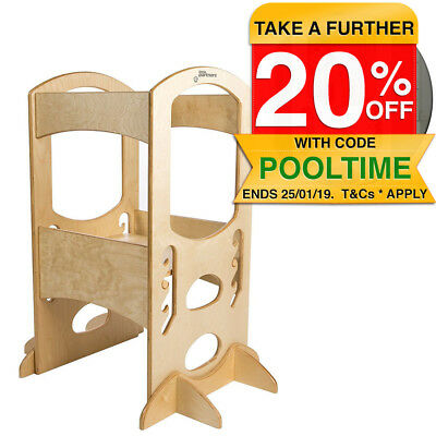 Little Partners Toddler Wooden Learning Tower Adjustable Stool Step Kitchen 3yr+