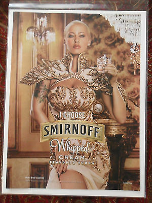 2011 Print Ad Smirnoff Vodka ~ Sexy Girl Royalty Whipped Cream