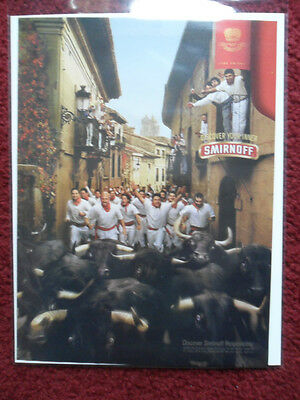 2003 Print Ad Smirnoff Vodka ~ The RUNNING of the BULLS SPAIN