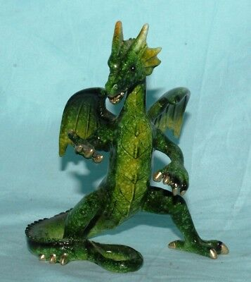 Dragon Statue Fantasy Mythical Gothic Magic Figurine Home Decorative Ornament A