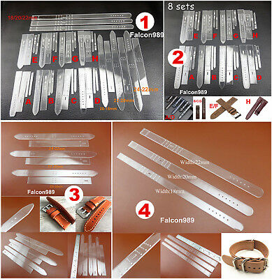 4kinds Leather Craft Acrylic Perspex Watch Strap Band Stencil Template Tool Set
