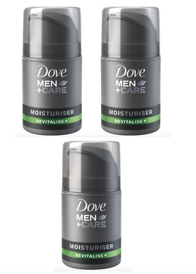 3 x Dove For Men Moisturiser Revitalise 50ml