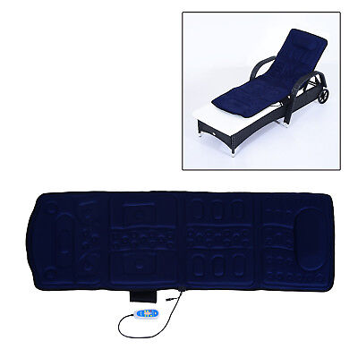 Massage Mat Full Body Back Massager Mattress Vibration Machine Shiatsu Heated US