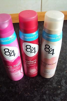 4 X 150 ml 8x4 Men Deospray 2 x discovery 2 x urban spirit