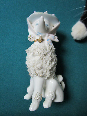 "Vintage 1950's Spaghetti Poodle with Bonnet Hat  FIGURINE 7"" MADE IN JAPAN [*a2]"