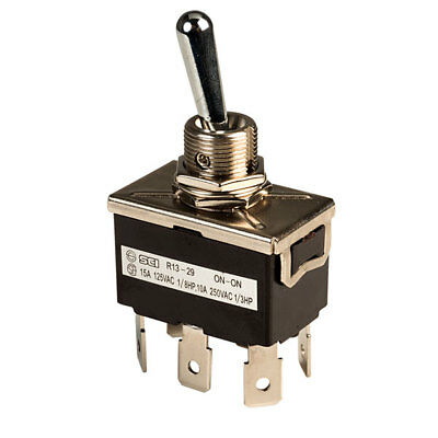 SCI R13-29B High Current DPDT On-on Toggle Switch
