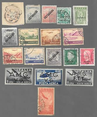 M-11 Lot of 18 stamps of  Italy, Hungary, Germany, Switzerland, UK, Greece