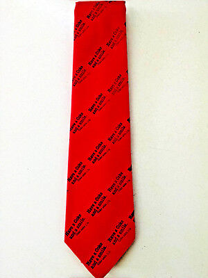 """Coca Cola Necktie Vintage """"Have a Coke and a smile"""" Coke Red  57"""" L-Never worn!"""
