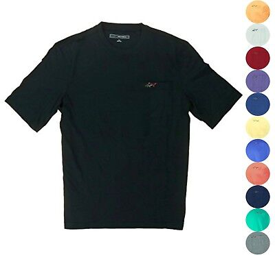 Greg Norman Men 100% Cotton Casual T Shirt with Chest Pocket [13 Colors, U Pick]