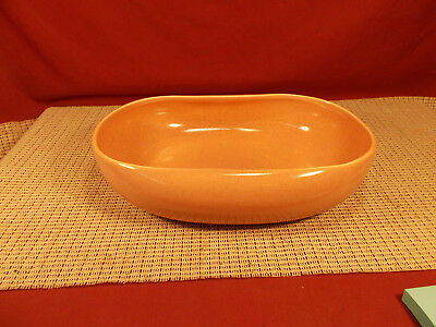 """Steubenville China American Modern Coral Oval Vegetable Bowl 10"""""""