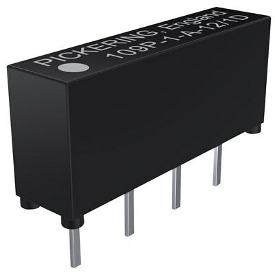 Pickering 1 Form A SPST 5 Volt coil Micro SIL Single-in-Line Reed Relay