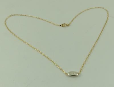 New 14k gold filled with a 925 sterling silver delicate tiny love Bar necklace!