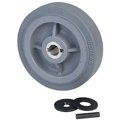 """Ampflow 6"""" High-Traction Drive Wheels with 3/4"""" Keyed Hubs"""