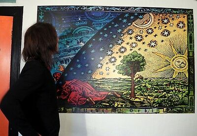 GIANT SIZE The Flammarion Engraving 1888 Psychedelic Flat Earth Firmament Poster