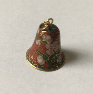 Chinese Porcelain Pendant Bell Shaped Hand Made With Jade Clapper