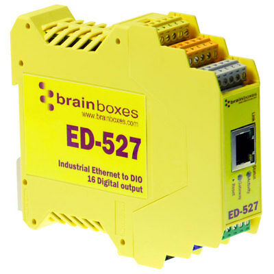Brainboxes ED-527 Ethernet to 16 Digital Outputs + RS485 Gateway
