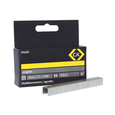 CK Tools 496003 Staples 10.5mm wide x 10mm deep Box Of 1000