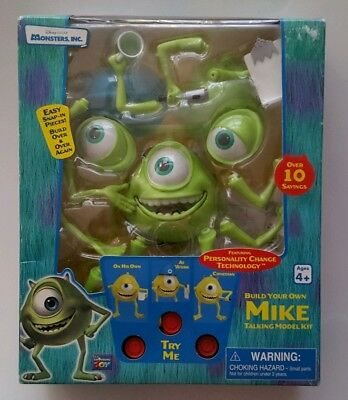 Monsters Inc Build your own Mike Talking Model Kit 2001 RARE