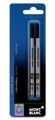 1 Pack, GENUINE - MONTBLANC Rollerball Pen Refills - PACIFIC BLUE - MEDIUM POINT
