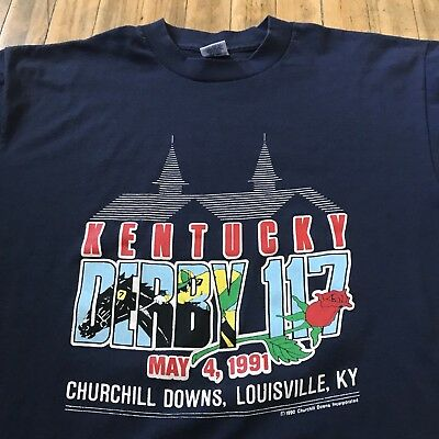 Vtg Kentucky Derby 1991 T-Shirt - Size Large, Made in USA