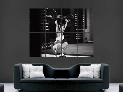 Weightlifting Poster Gym Fitness Sexy Hot Girl Muscles Giant Wall Print Art