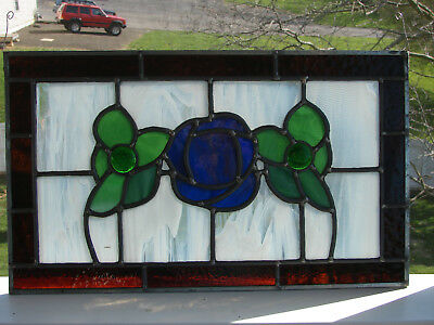 Leaded Stained Glass TRANSOM Window: New, made in America.