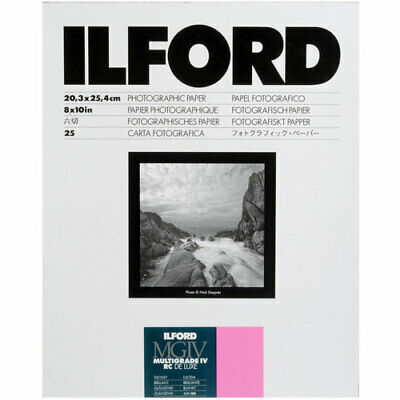 Ilford Multigrade IV Resin Coated RC DE LUXE 8 x 10 Paper 25 Sheets - Glossy