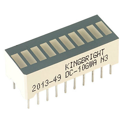 Kingbright DC-10GWA 10 Bar Green DIL LED Display