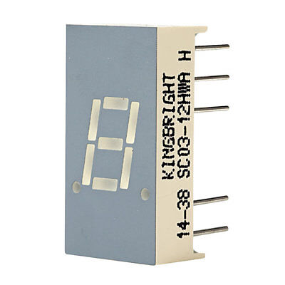 Kingbright SC03-12HWA 7.6mm Red LED Display Cathode