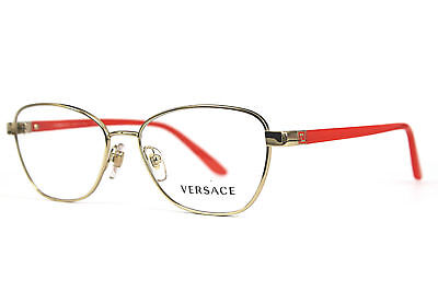 ad9e4af182f8 NEW AUTHENTIC VERSACE MOD.1221 1252 Pale Gold Women s Eyeglasses 54MM ITALY