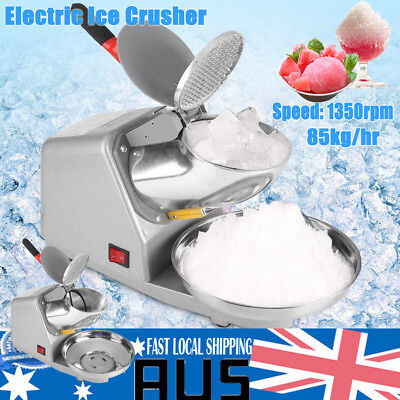 Electric Ice Crusher Shaver Commercial Machine Snow Cone Maker 85KG/H 1350R/min