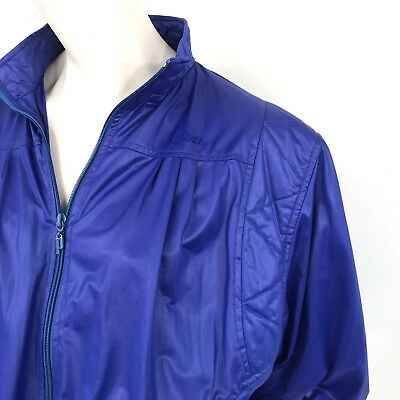 Vintage 80s Track Suit Prince Wet Look Blue 2 Piece Zippered Front And Ankles