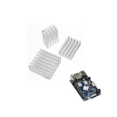 3X Adhesive Aluminum Heat Sink Cooling Kit For Orange Pi PC / Lite / One