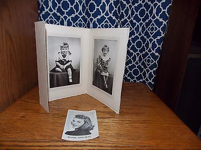 1940's, 1950's Vintage Photographs School Days Antique Doll