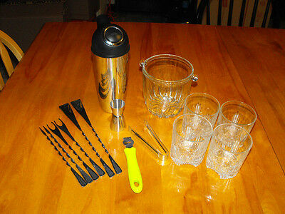 Alcohol Liquor Cocktail Preparation Kit #01 (15 pieces) (Special Price)(All NEW)