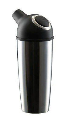 Trudeau Easy Pour Cocktail Shaker Stainless Steel 800 ml Chrome & Black (NEW)