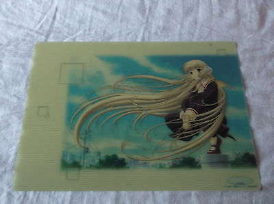 Chobits Pencil Board Shitajiki  (Chii, semi-transparent) Clamp
