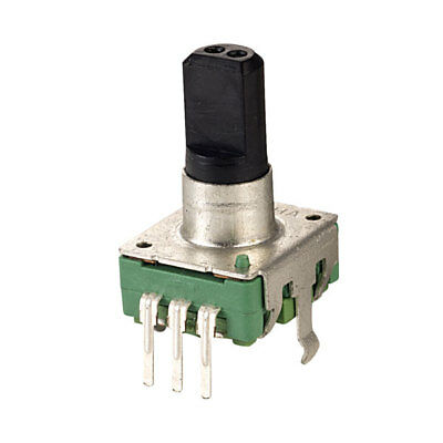 Taiwan Alpha 12mm Vertical Encoder with Switch 20mm Flat Insulated Shaft 24PPR