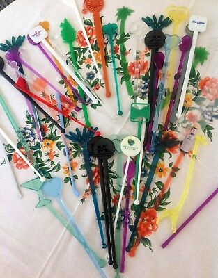 Vintage 47 Swizzle Sticks, hotels, airlines, resorts, alcohol