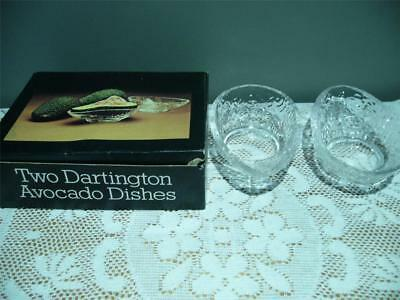 Dartington Glass Avocado Dishes X 2 - Frank Thrower - In Box - Vintage - Vgc