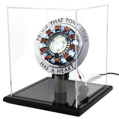 DIY Iron Man MK1 Arc Reactor Master Grade Display Box Stand Base Glass Case USB