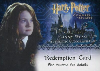 Harry Potter Chamber of Secrets Bonnie Wright Autograph Redemption Card