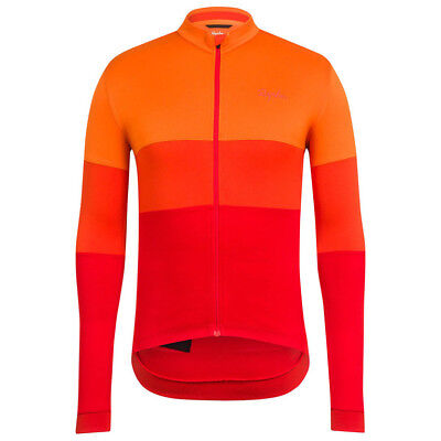 Rapha Orange/Red Long Sleeve Tricolour Jersey. Size Small. BNWT.