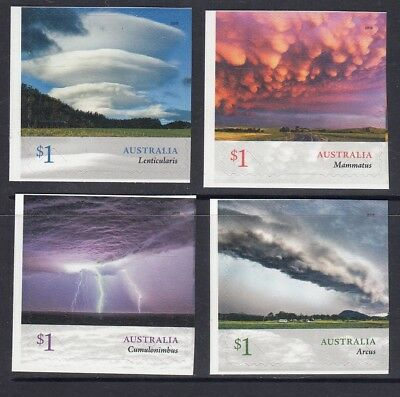 AUSTRALIA 2018 - CLOUDSCAPES Clouds set of 4 P&S stamps MNH - Nature , Weather