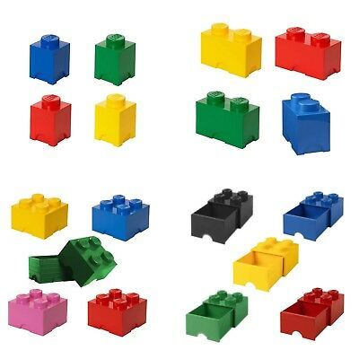 Official Lego Storage Bricks & Drawers Box In Various Sizes & Colours NEW