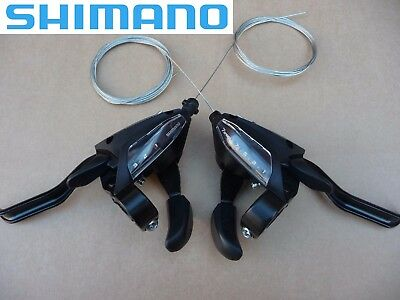 Shimano ST-EF500 (3x7)&(3x8) Speed Bike Shift/Brake Lever Set with Inner Cables