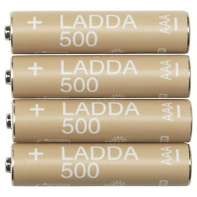 LADDA AAA & AA Rechargeable 1.2V NiMH 500-2450 mAh Batteries