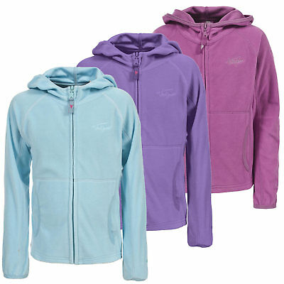 Trespass Snozzle Girls Full Zip Fleece Hoodie 5 - 6 yrs