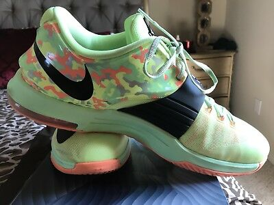 on sale 0a344 70162 Nike KD 7 Easter Liquid Lime Black Green 100% Authentic 653996 304 SZ 14